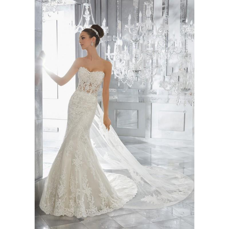 Свадьба - Morilee by Madeline Gardner Fall/Winter Marni 5572 Elegant Detachable Ivory Sweetheart Sheath Tulle Appliques Wedding Dress - Top Design Dress Online Shop