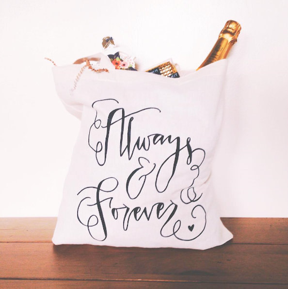 Mariage - Wedding Day Tote Bag Always and Forever