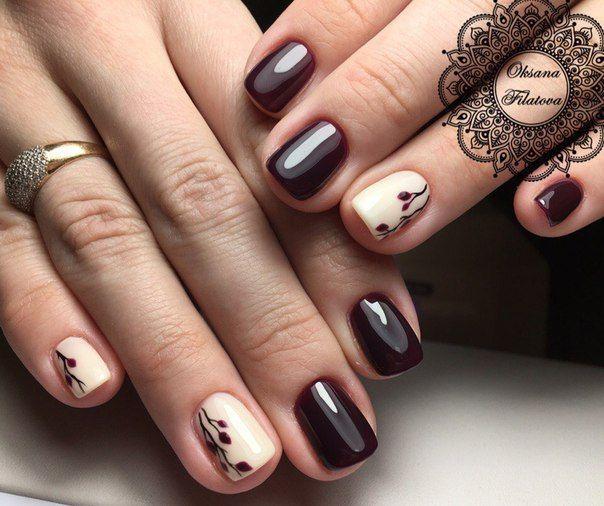 Burgundy Nail Art - Nail - Burgundy Nail Art #2798532 - Weddbook