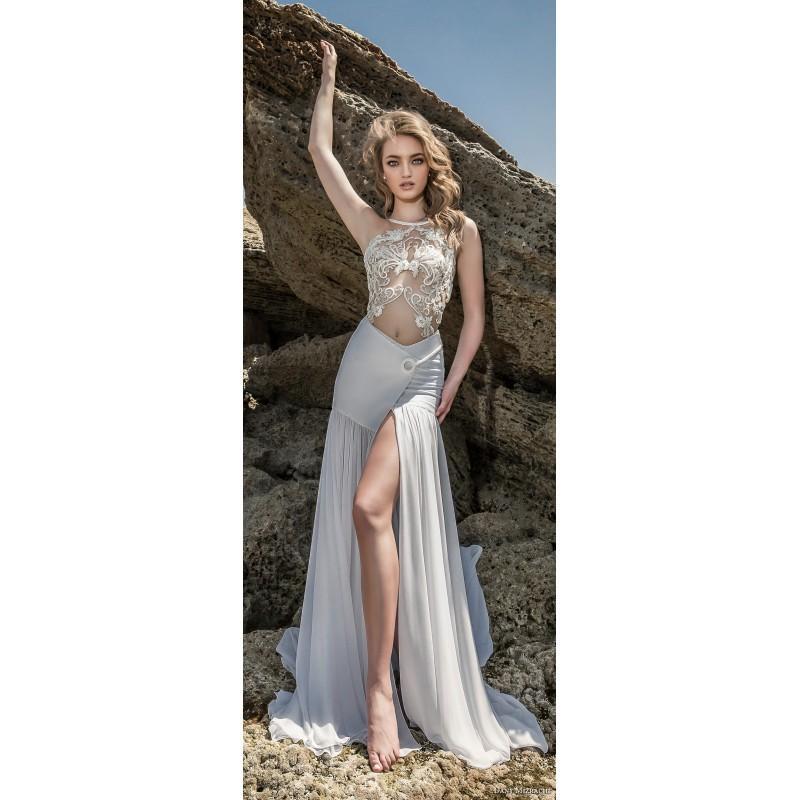 Hochzeit - Dany Mizrachi 2018 DM65/17- F/W Sexy Chapel Train Sleeveless Jewel Wedding Gown Sexy Chapel Train Sleeveless Jewel Wedding Gown - Charming Wedding Party Dresses
