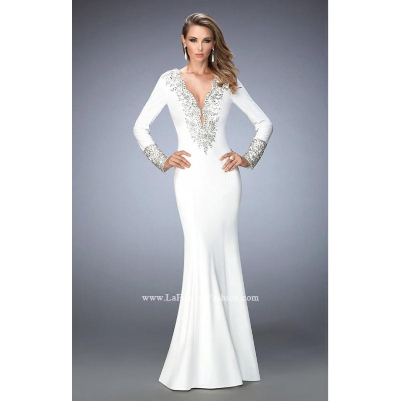 Mariage - Black Gigi 22714 - Sleeves Jersey Knit Open Back Dress - Customize Your Prom Dress