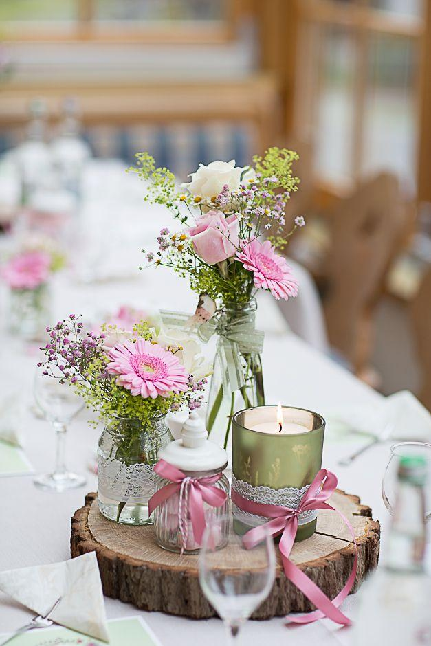 Mariage - Wooden Table Centerpiece