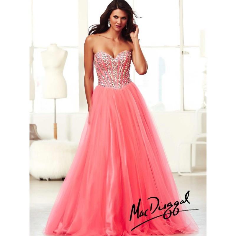 Mac Duggal Ball Gowns 48052H Beaded Corset Dress - Brand Prom ...