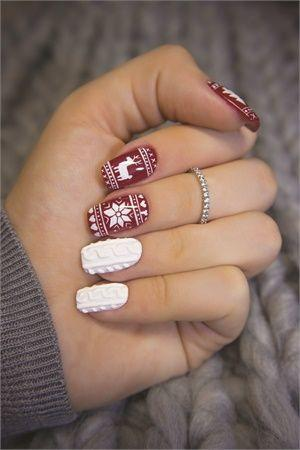 Свадьба - Sweater Weather Nail Art