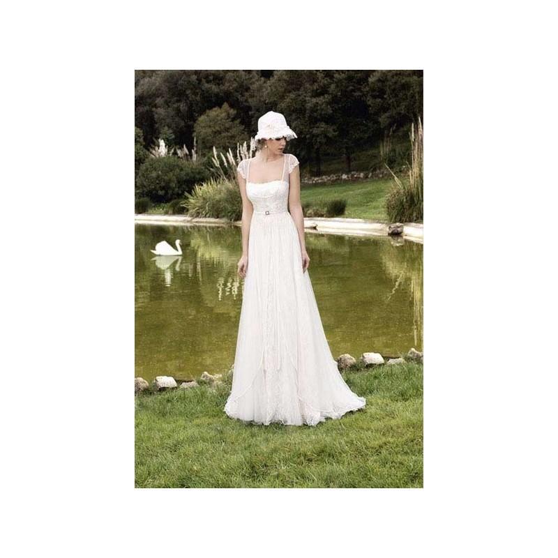 Свадьба - Vestido de novia de Inmaculada Garcia Modelo 5092 - 2015 Evasé Con mangas Vestido - Tienda nupcial con estilo del cordón