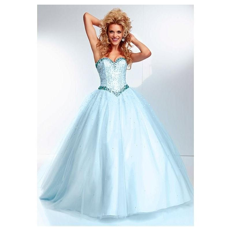 Свадьба - Graceful Sequin Lace & Tulle Sweetheart Neckline Floor-length Ball Gown Prom Dress - overpinks.com