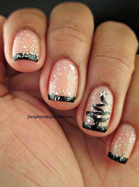 Nail Black Christmas Nail Art 2799781 Weddbook
