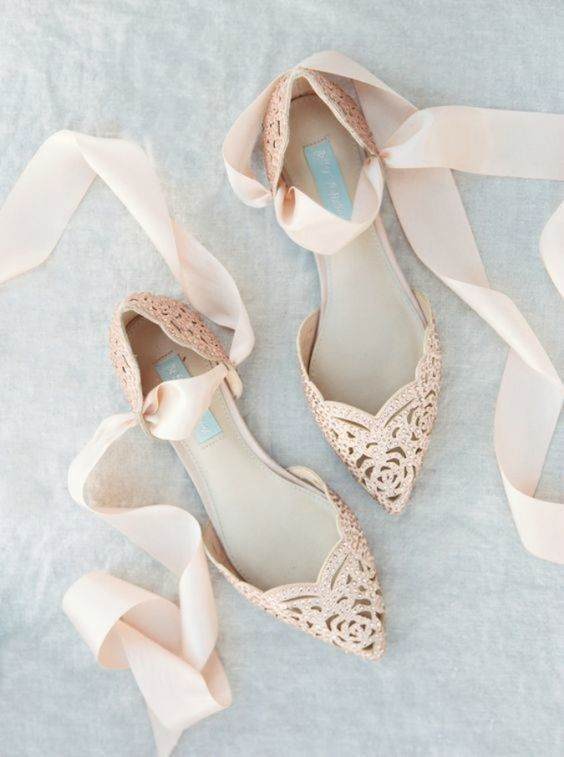Wedding - Zapatos De Novia Planos. ¡Ideales