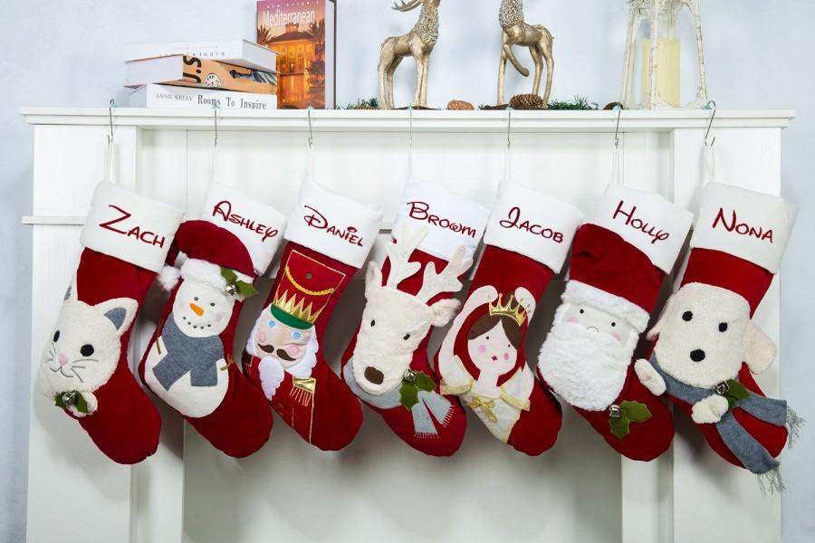 Personalized Christmas Stockings Monogram Christmas Stockings