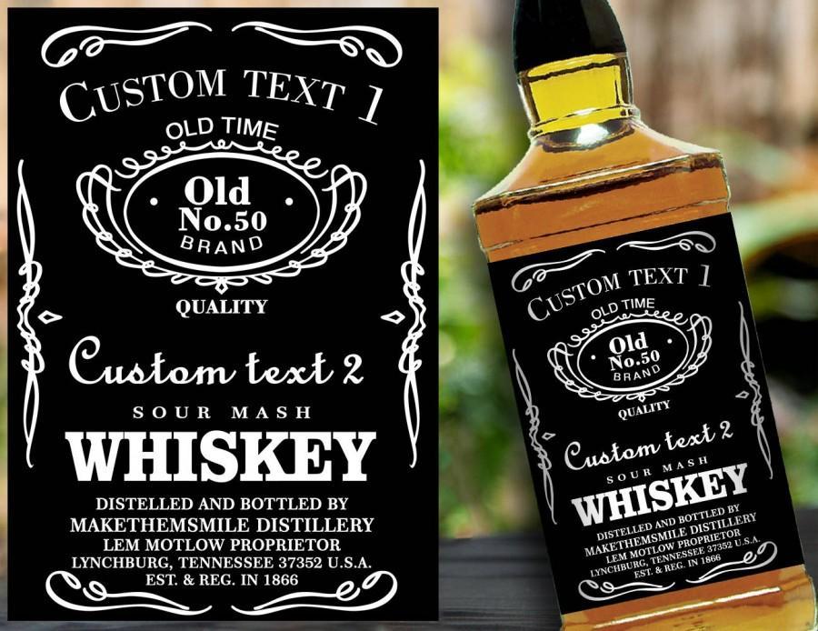Custom Label Personalised Custom Whiskey Label Liquor Bottle