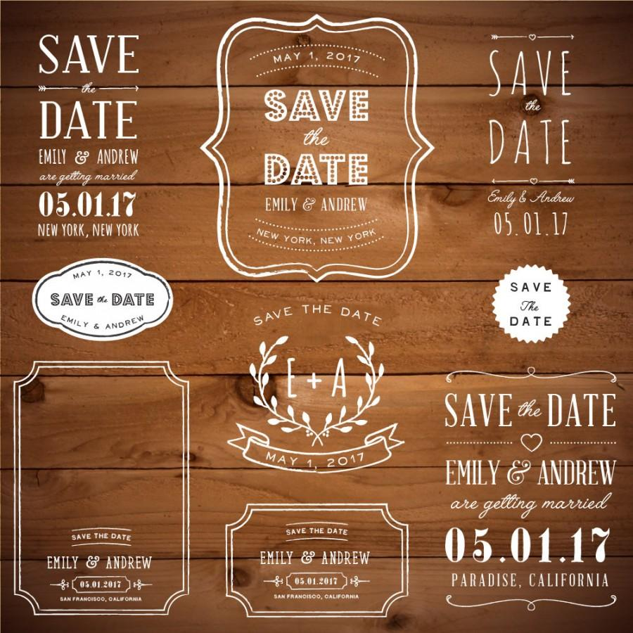 Mariage - Photoshop Clipart Overlay - Wreath Clipart - Save the Date - Wedding Overlays - Wedding Frame Clipart - Photoshop Overlay - Photo Overlay