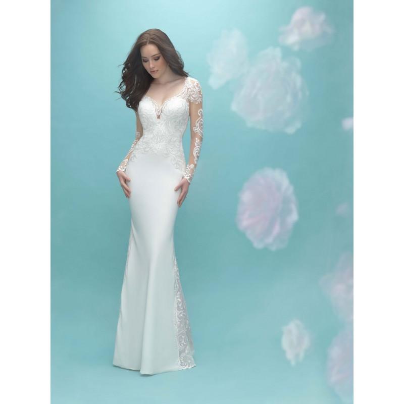 Wedding - Allure Bridals 9453 Long Sleeve Lace Sheath Wedding Dress - Crazy Sale Bridal Dresses