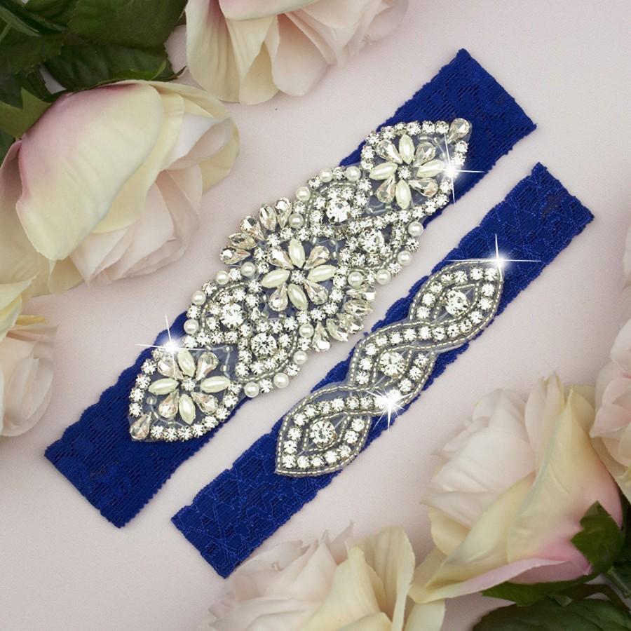 Mariage - Royal Blue Garter, Something Blue, Garter Set Blue, Blue Wedding Garter, Blue Garter Set, Bridal Garter Set, Toss Garter, Bridal Garter 3-1A