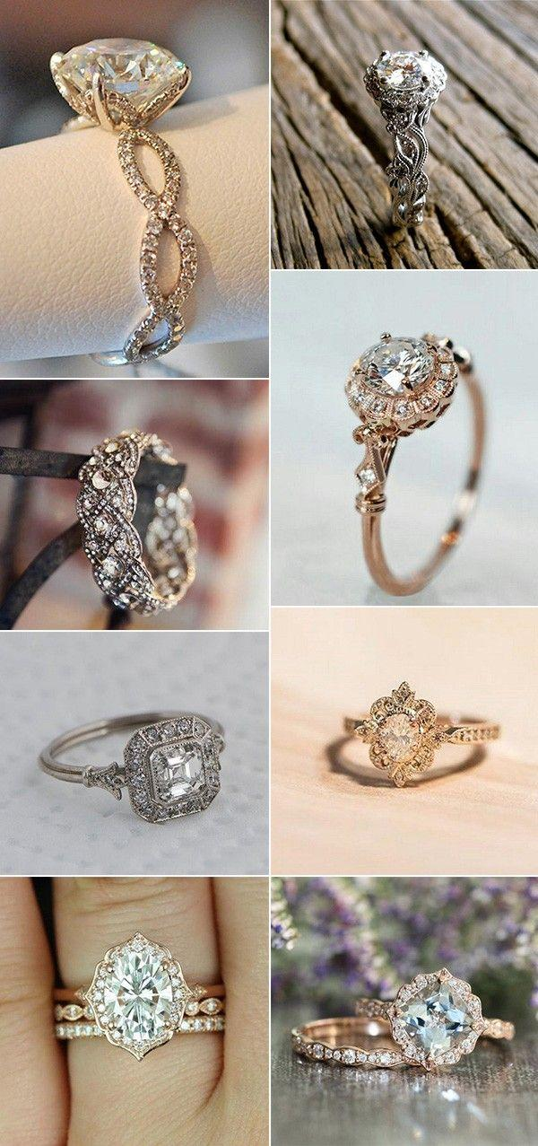 Свадьба - 18 Brilliant Vintage Wedding Engagement Rings