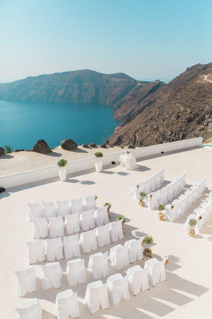 Wedding - Elegant Santorini Wedding At Rocabella Hotel With Olive Tree Decor & Jesús Peiró Wedding Dress