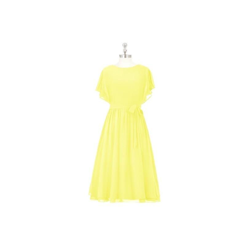 Wedding - Lemon Azazie Alejandra - Scoop Back Zip Chiffon Knee Length Dress - Cheap Gorgeous Bridesmaids Store