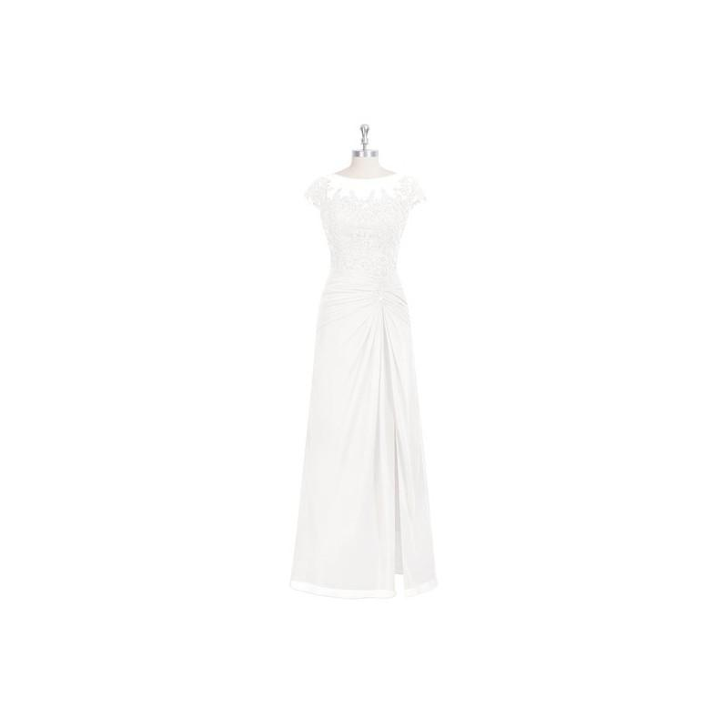 Wedding - Ivory Azazie Libby MBD - Illusion Floor Length Illusion Chiffon, Tulle And Lace Dress - Cheap Gorgeous Bridesmaids Store