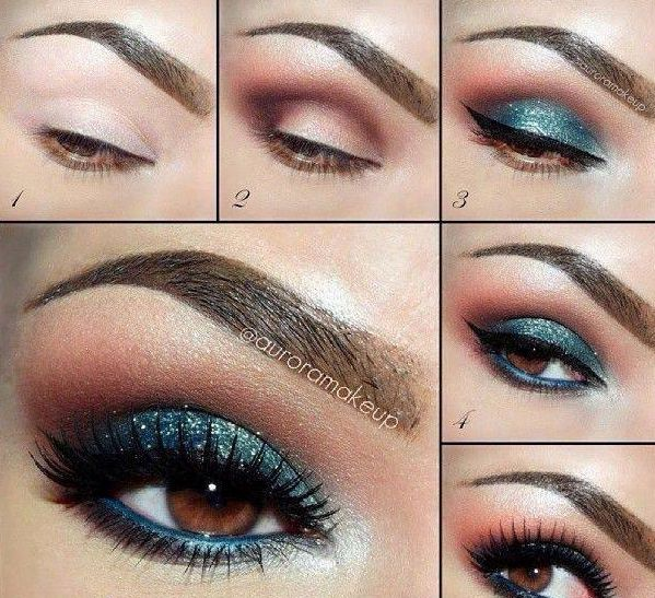 Make Up Teal Smokey Eye 2800478 Weddbook