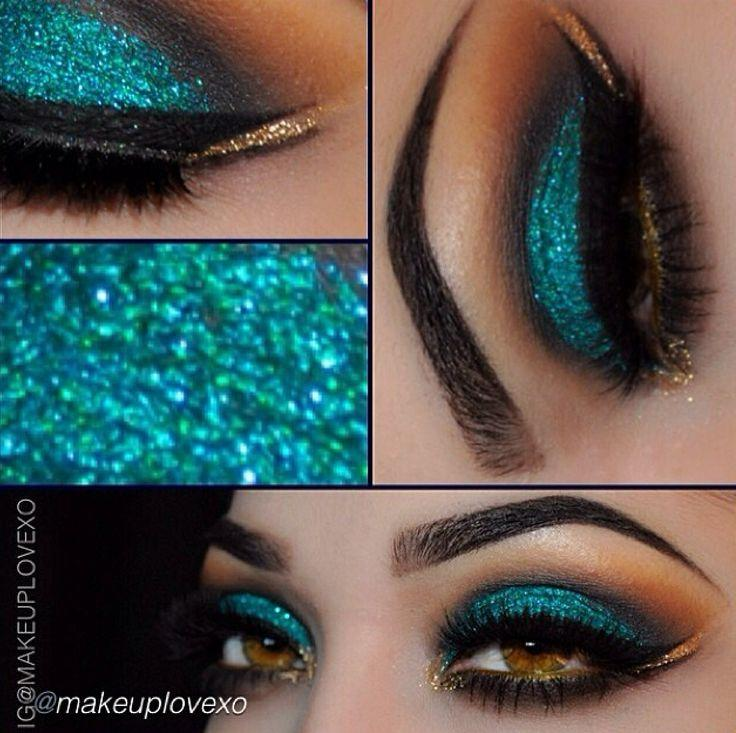 Свадьба - Double Wing And Teal Eyeshadow