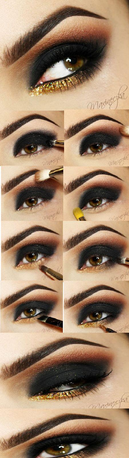 Свадьба - Black Eyeshadow Tutorial