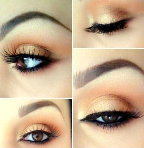 Свадьба - Peachy Eye Makeup