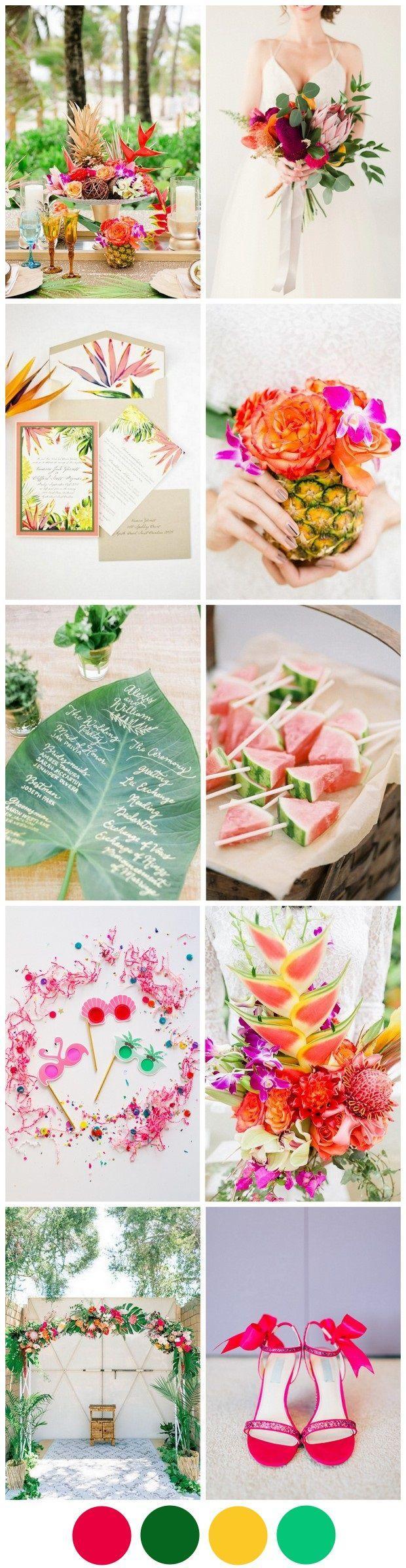 Wedding - The Most Fun Tropical Wedding Theme You've Ever Seen