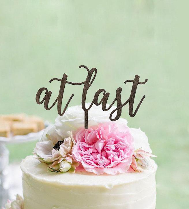 Rustic L Cake Topper