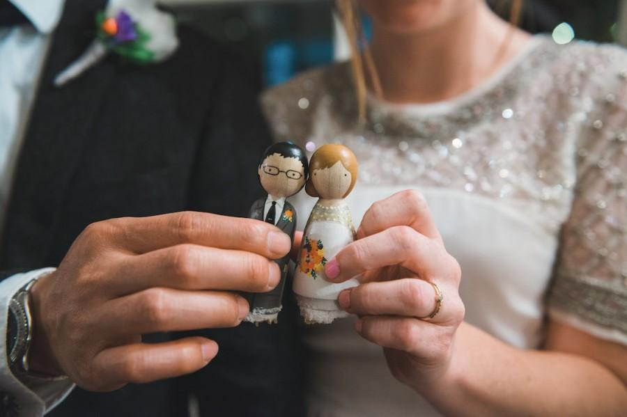 Mariage - Cake Topper // Wedding Cake Topper // Peg Dolls // Wooden Cake Toppers // Custom Cake Toppers // Goose Grease // Wooden Dolls Goose Grease