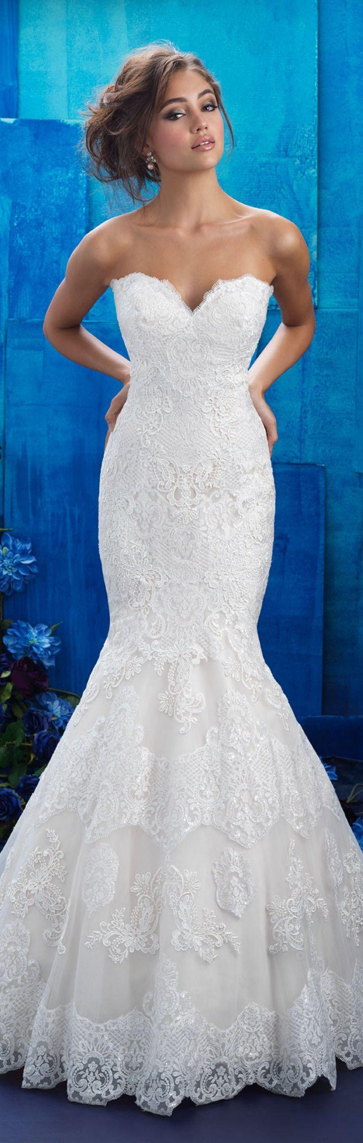 Mariage - 37 Elegant Lace Mermaid Wedding Dress From World Class Designer
