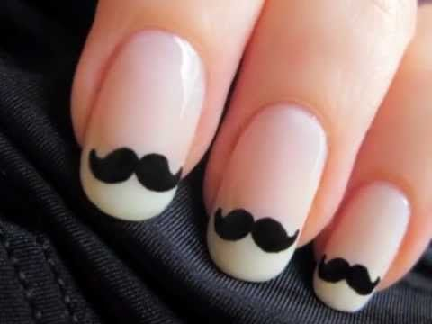 Свадьба - Mustache Nails