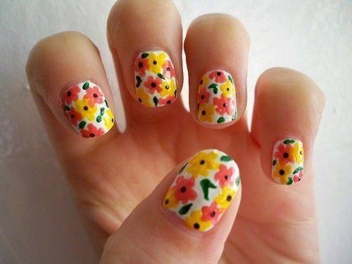 Свадьба - Floral Nail Art