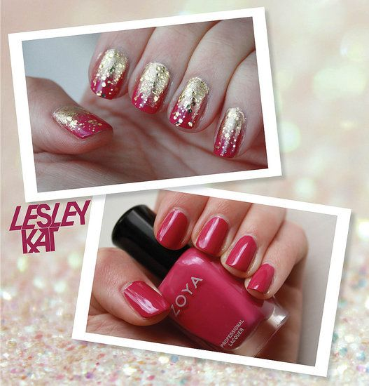 Свадьба - Red And Gold Nails