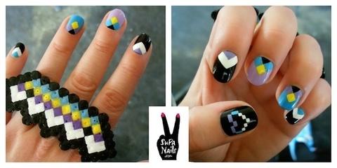 Hochzeit - Geometric Nail Art