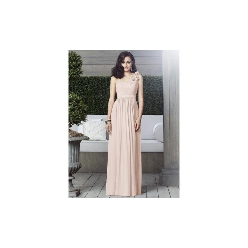 Wedding - Dessy Collection 2909 Floor Length One Shoulder Chiffon Bridesmaid Dress - Crazy Sale Bridal Dresses