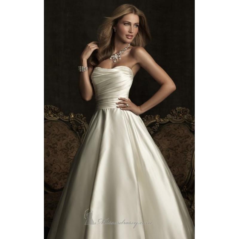 Wedding - Satin Dress by Allure Bridals - Color Your Classy Wardrobe