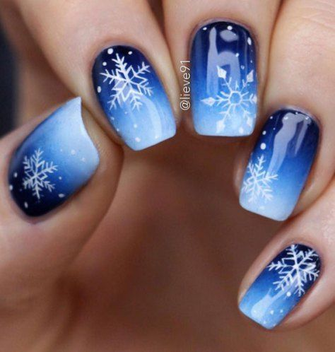 Wedding - Snowflake Nails