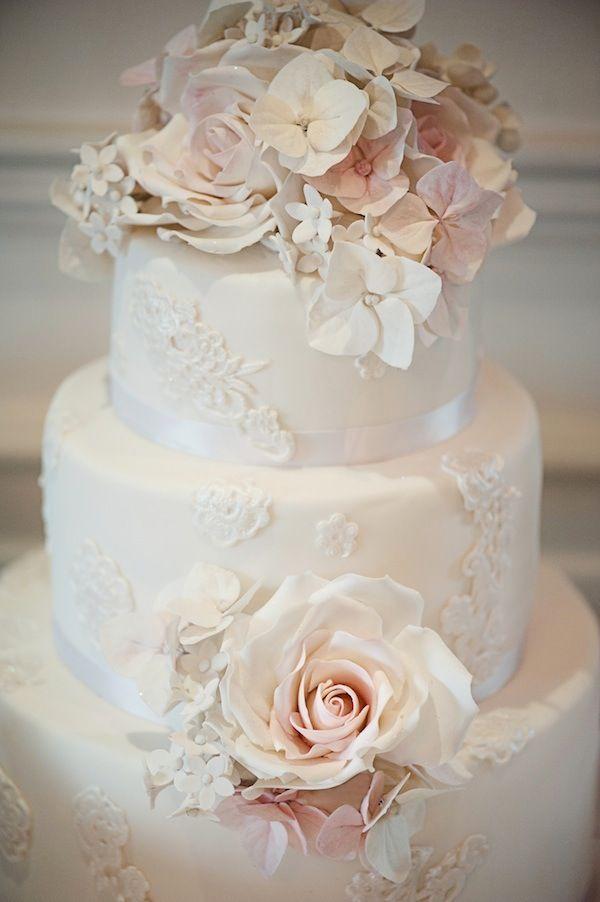 Wedding - White Rose Cake