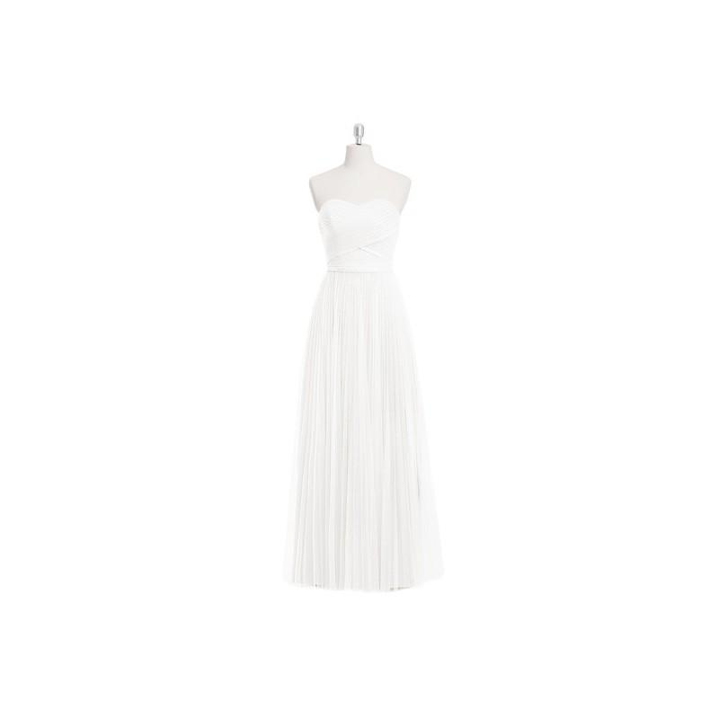 Wedding - Ivory Azazie Mavis - Floor Length Tulle Sweetheart Back Zip Dress - Charming Bridesmaids Store