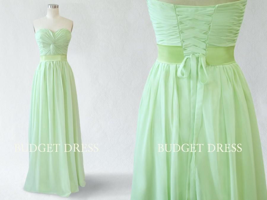 Wedding - A-line Sweetheart Floor Length Chiffon Prom Dress with Lace-up