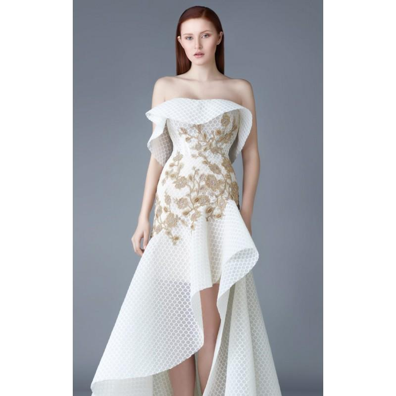4e560ea94a9 As Shown Strapless Hi-Lo Gown by Beside Couture by GEMY - Color Your Classy  Wardrobe