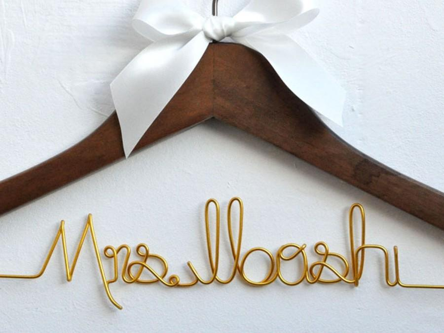 wedding gift bride gift personalized wedding hangers name hanger