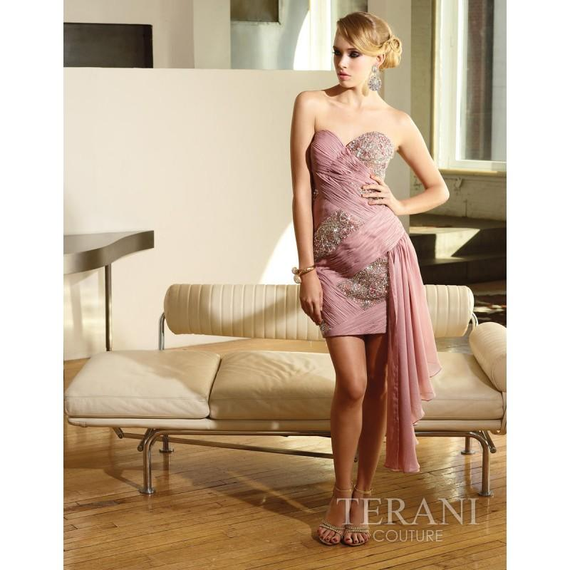 Mariage - Terani Couture Evenings C1070 - Rosy Bridesmaid Dresses