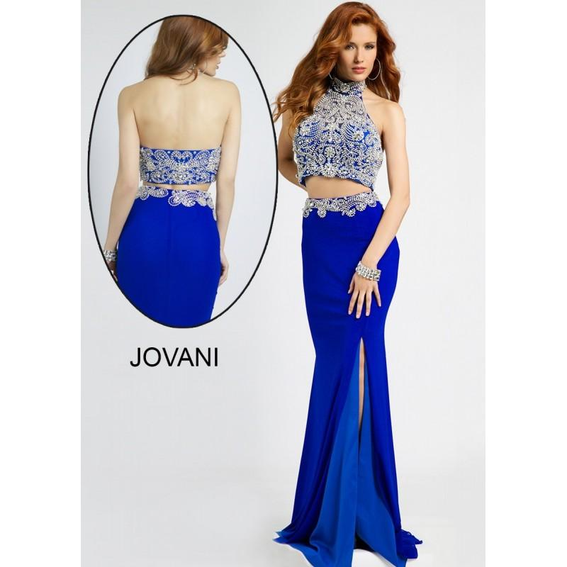 Mariage - Jovani 20370 Two-Piece Crystal Beaded Dress - 2017 Spring Trends Dresses