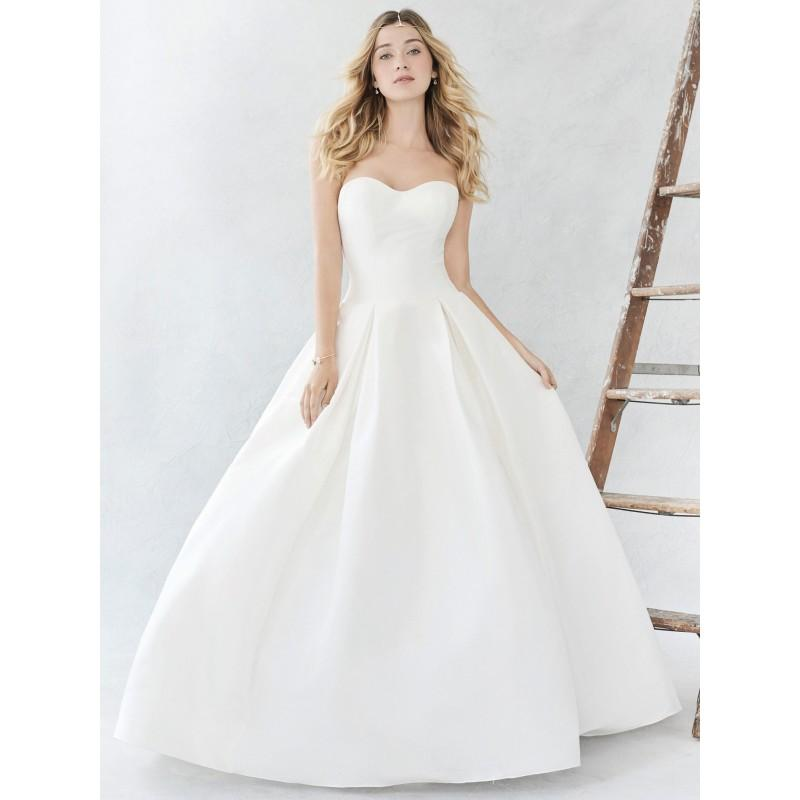 Ella Rosa Spring Summer 2017 BE374 Sweep Train Ball Gown Ivory Sweet Sweetheart Sleeveless Satin Outdoor Wedding Dress