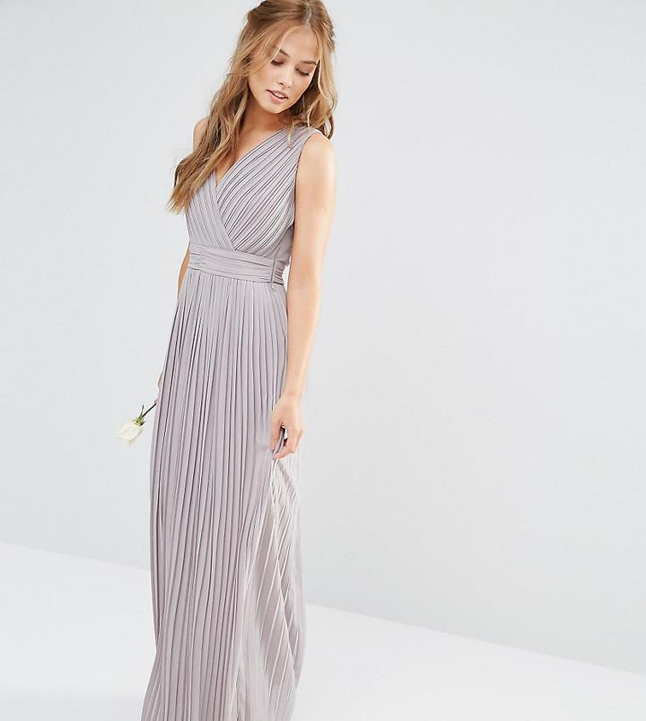 Mariage - TFNC WEDDING Pleated Wrap Maxi Dress