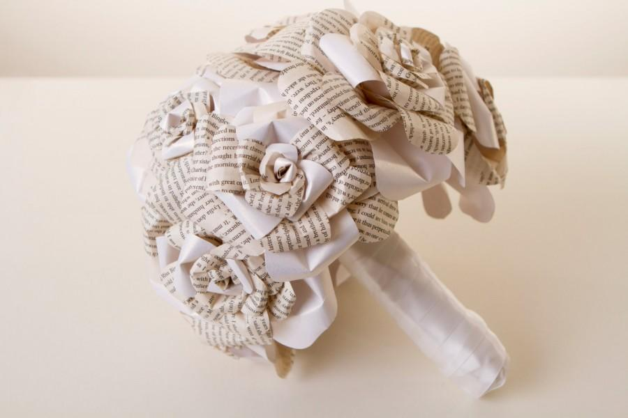 Wedding - Paper Flower Bouquet, Origami, Wedding, Harry Potter, Pride and Prejudice, The Walking Dead, Lord of the Rings, Star wars, Paper flowers