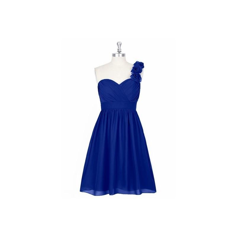 Wedding - Royal_blue Azazie Alyssa - Sweetheart Knee Length Chiffon Strap Detail Dress - Charming Bridesmaids Store