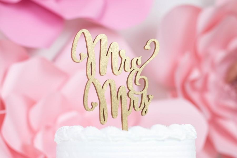Hochzeit - Laser Cut Mr & Mrs Script Cake Topper, Rustic Wedding Cake Topper, Mr Mrs Cake Topper, Wedding Cake Topper, Rustic, Rose Gold Cake Topper