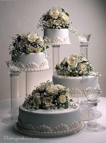 Hochzeit - Cascading Wedding Cakes