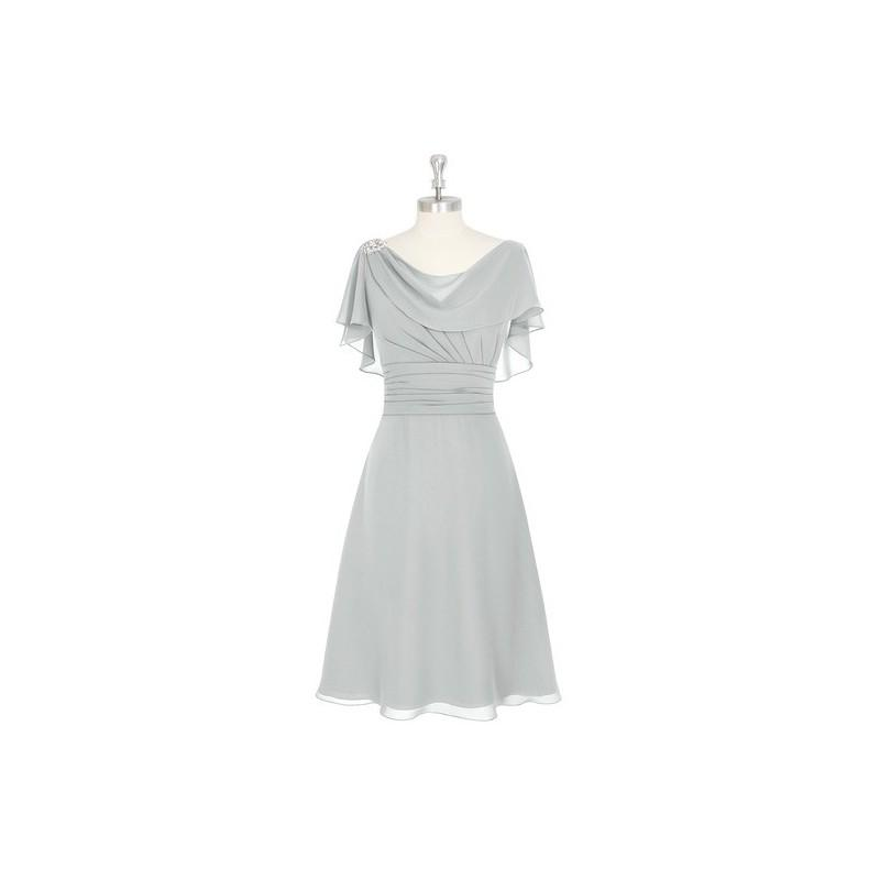 Свадьба - Silver Azazie Keely MBD - Knee Length V Back Cowl Chiffon Dress - Cheap Gorgeous Bridesmaids Store